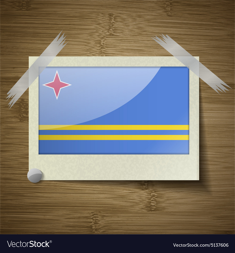 Flags Aruba At Frame On Wooden Texture Royalty Free Vector - Aruba flags
