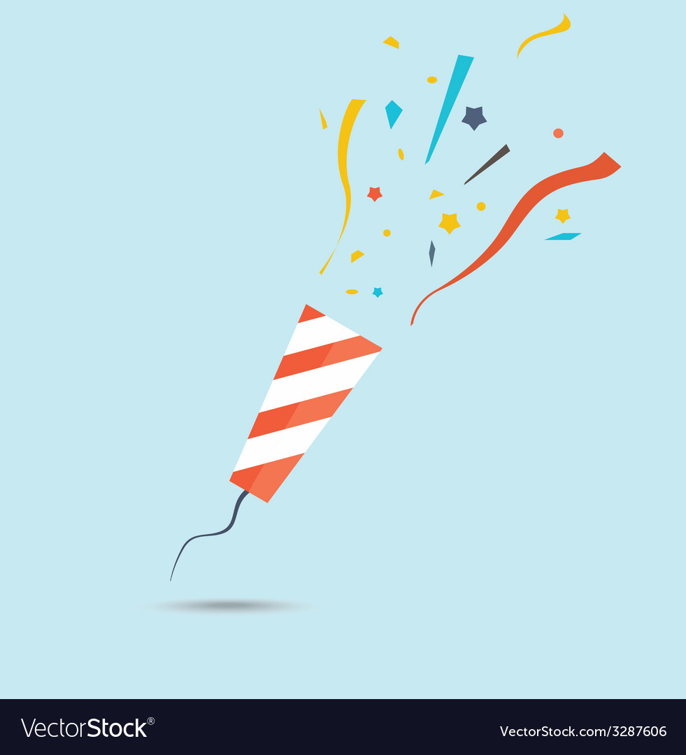 Party popper vector image