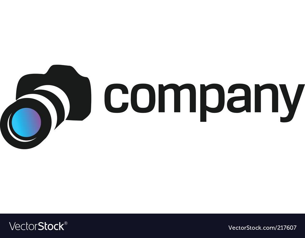 Professional camera logo for company vector image