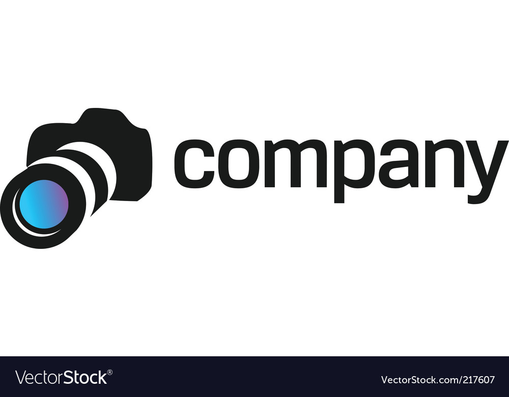 Professional camera logo for company vector image