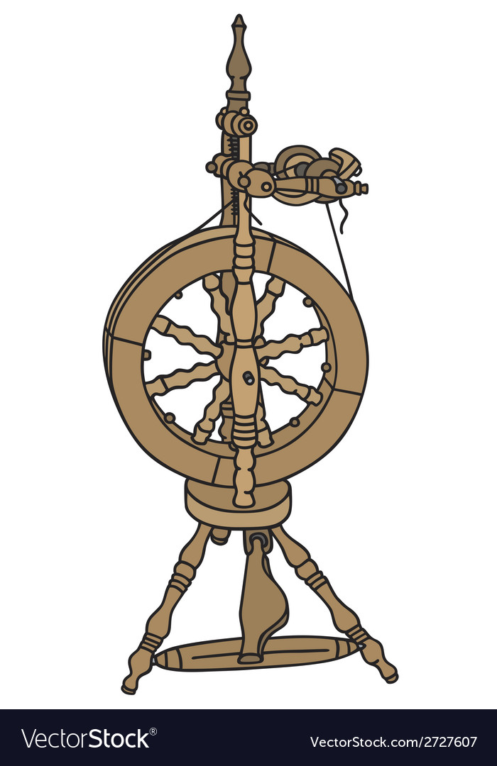 Spinning wheel vector image