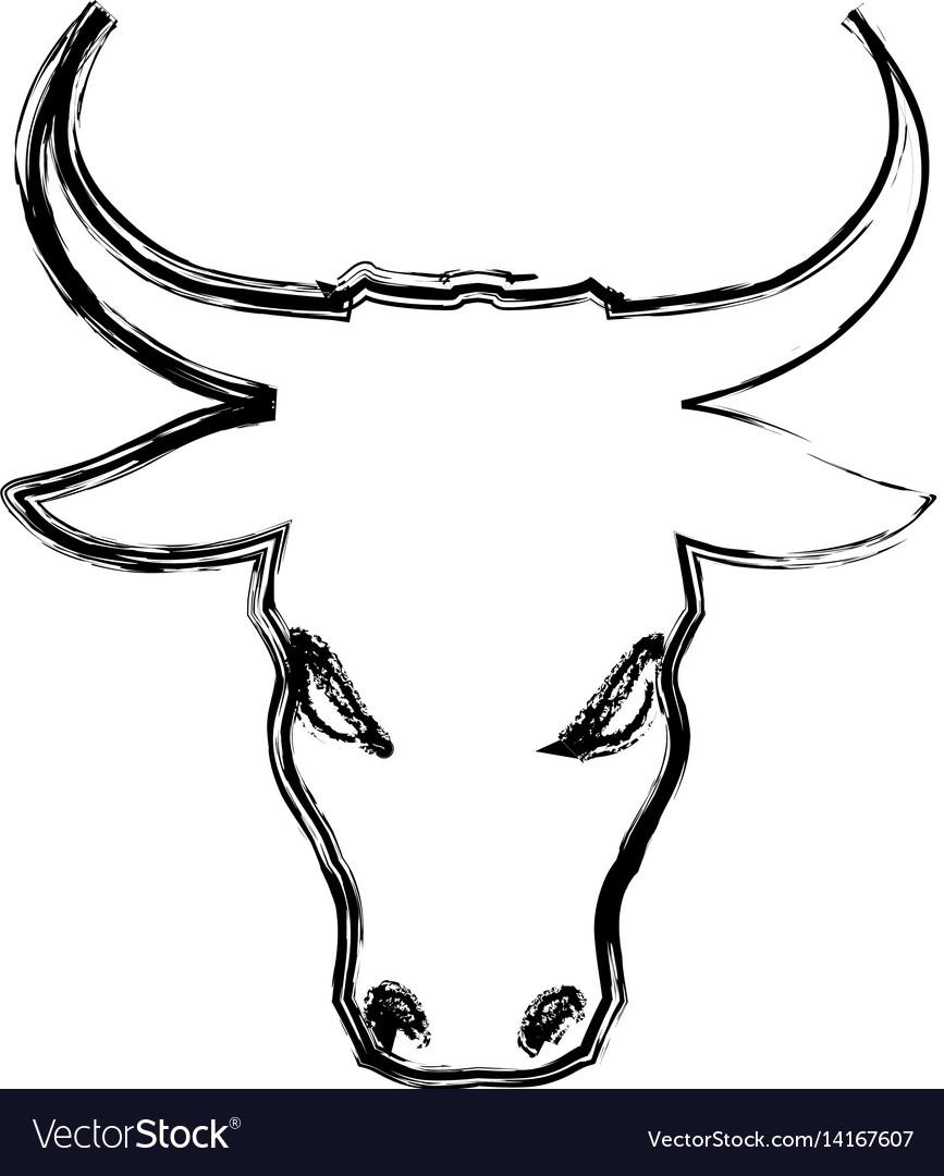 Stock market bull symbol vector image
