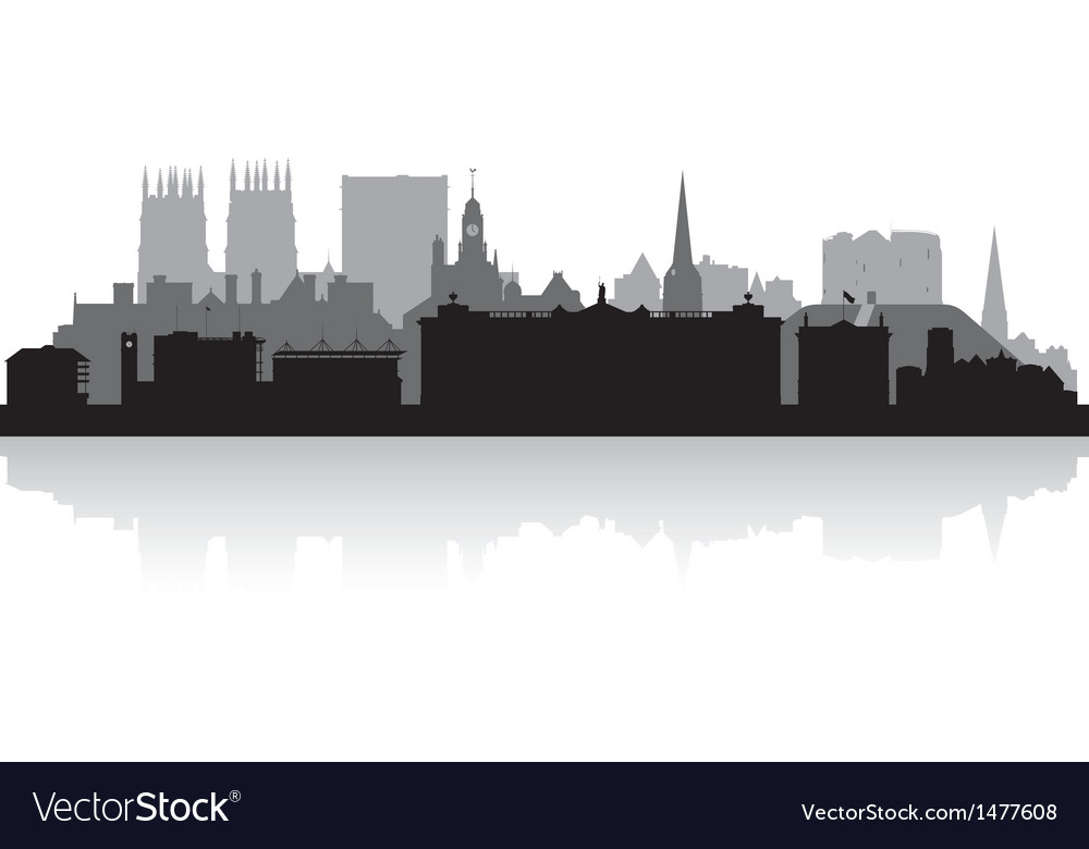 York city skyline silhouette vector image