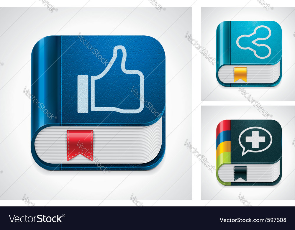 Social media sharing vector image