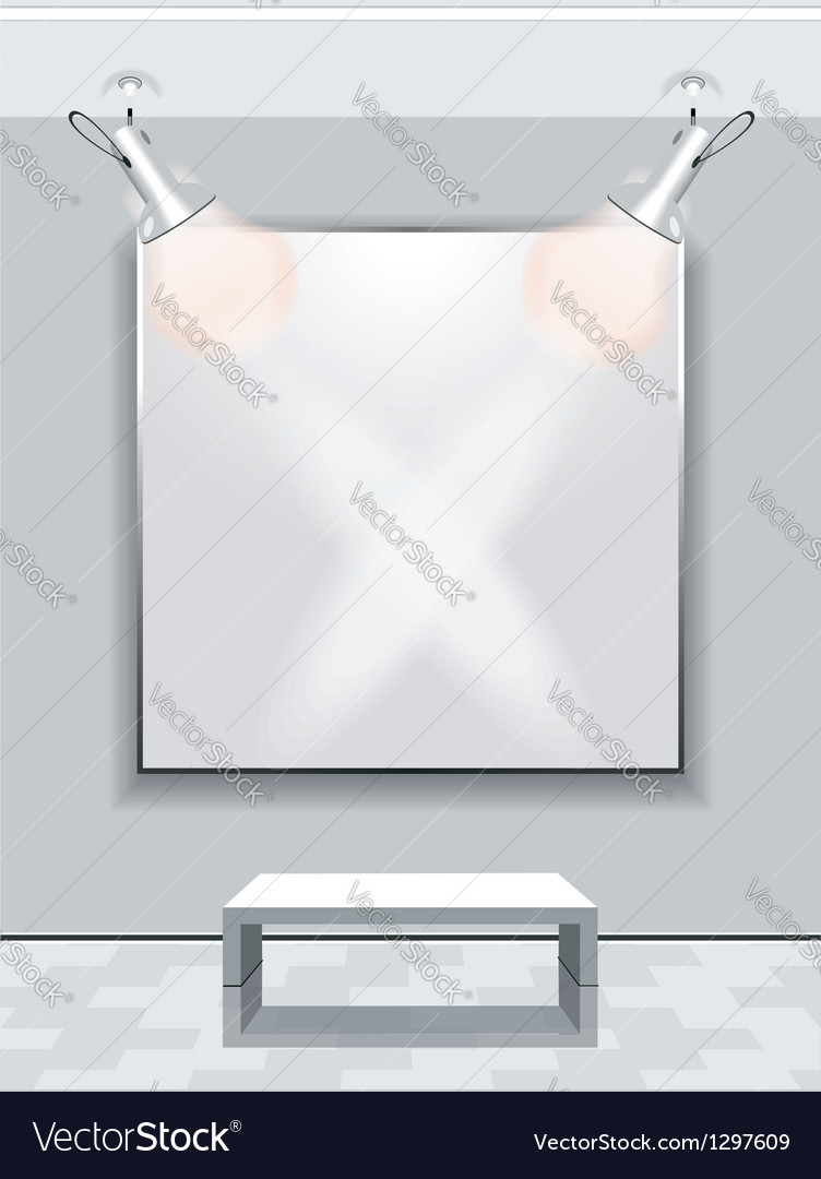 Gallery Interior with niche inside the panel vector image