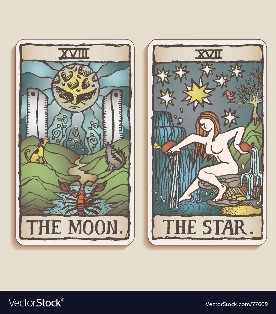 Tarot cards vector image