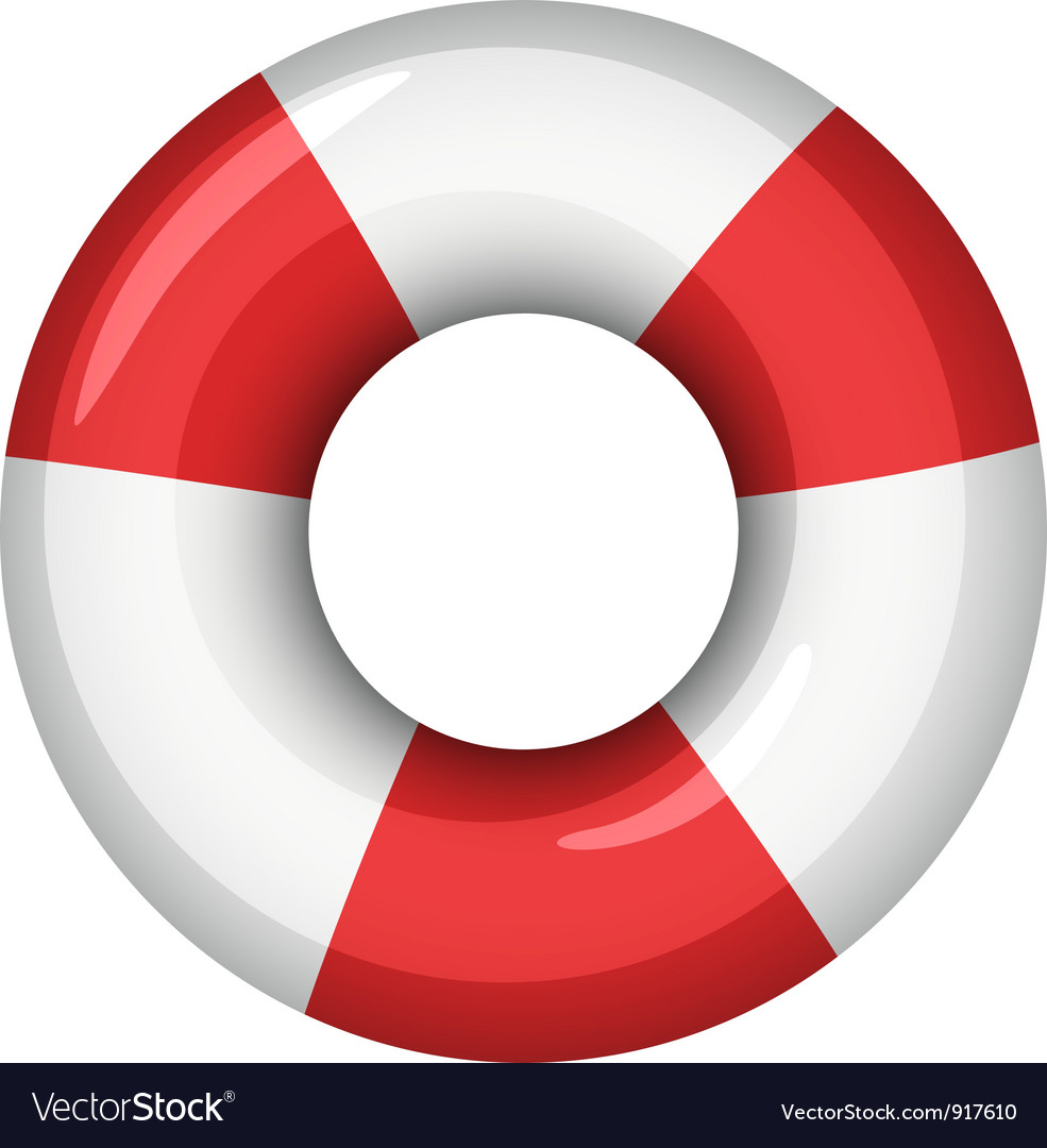 Life saver icon vector image