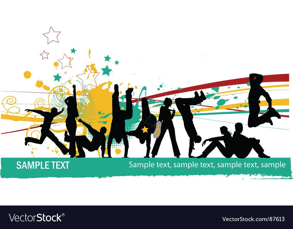 Everyone dancing vector image