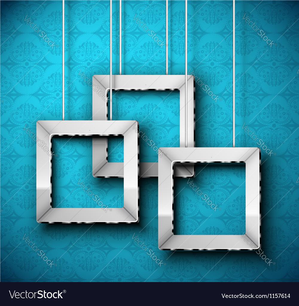 Hanging frame vector image
