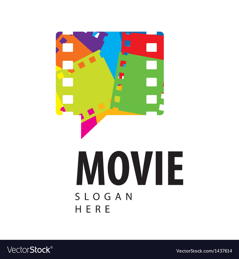 Logo colored film in the form of a bubble Vector Image