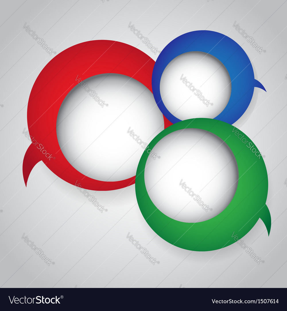 Colorful speech bubbles round vector image