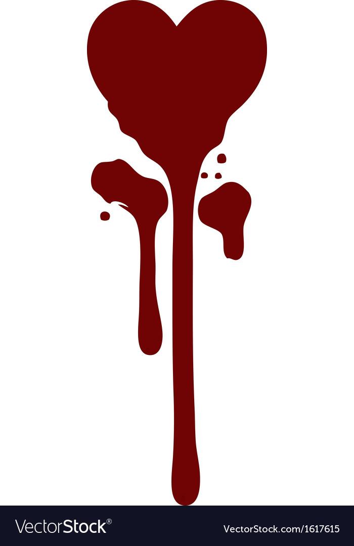Bleeding heart Royalty Free Vector Image - VectorStock
