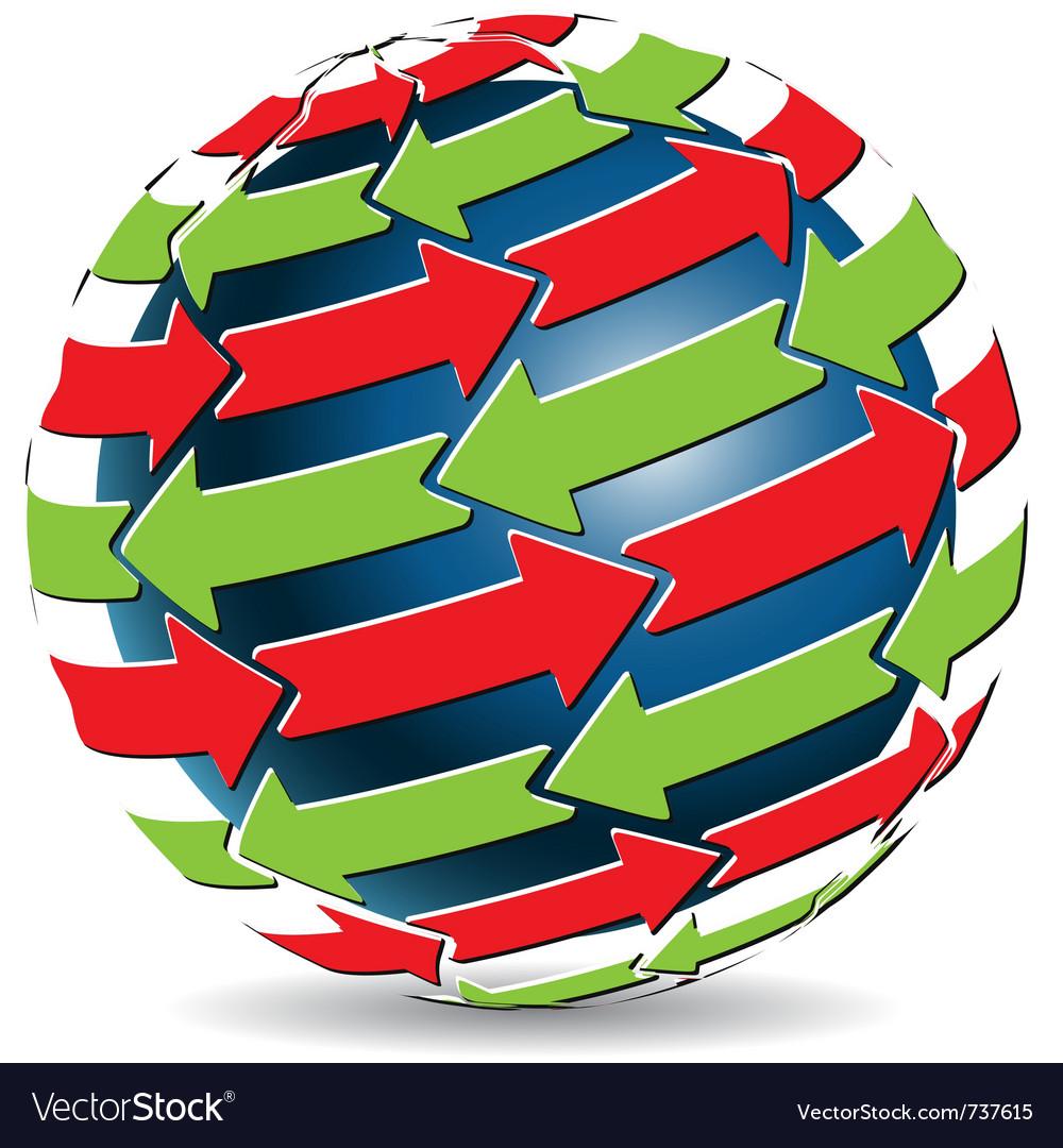 Global arrows vector image