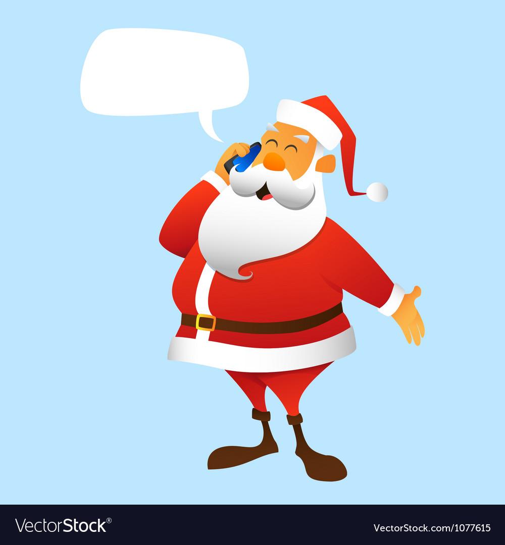 Santa Claus calls vector image