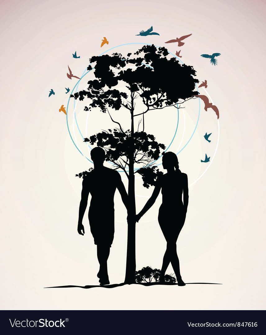 Nature people vector image