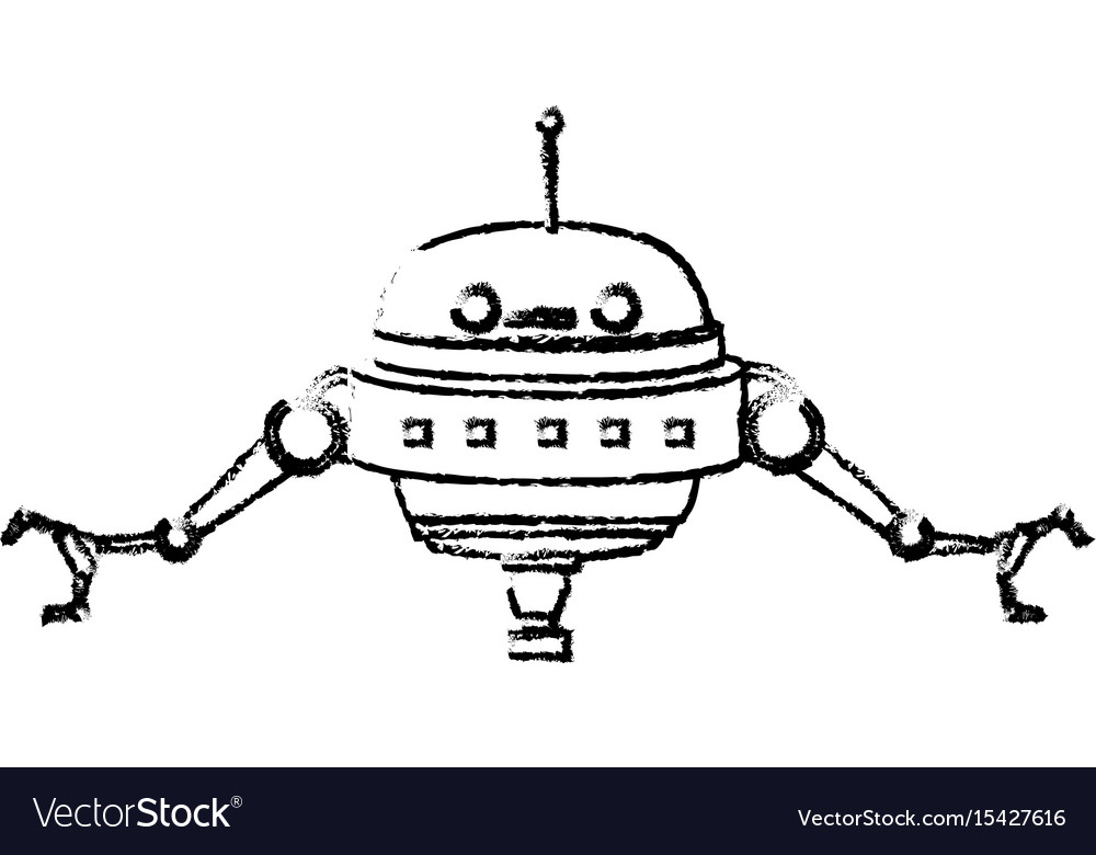 Robot innovation technology science artificial vector image