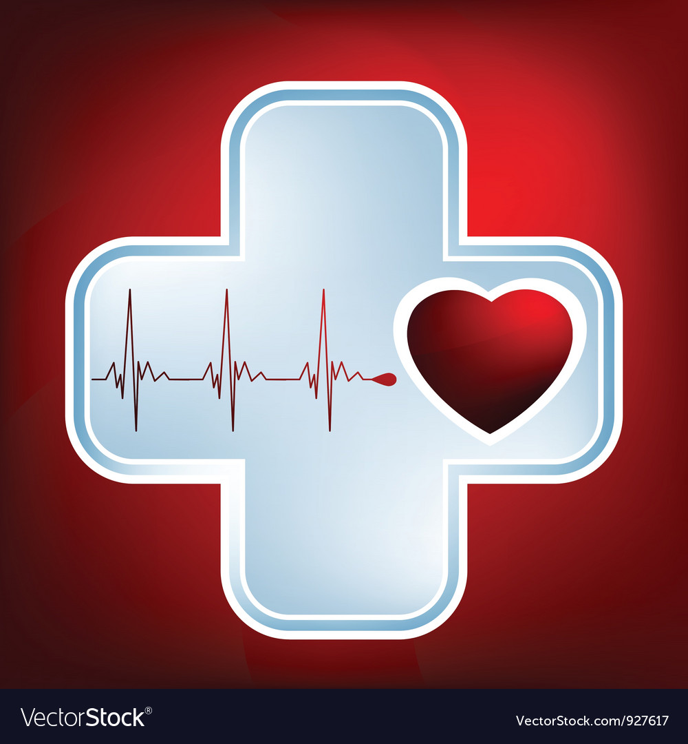 Normal ecg red background heartbeat EPS 8 vector image