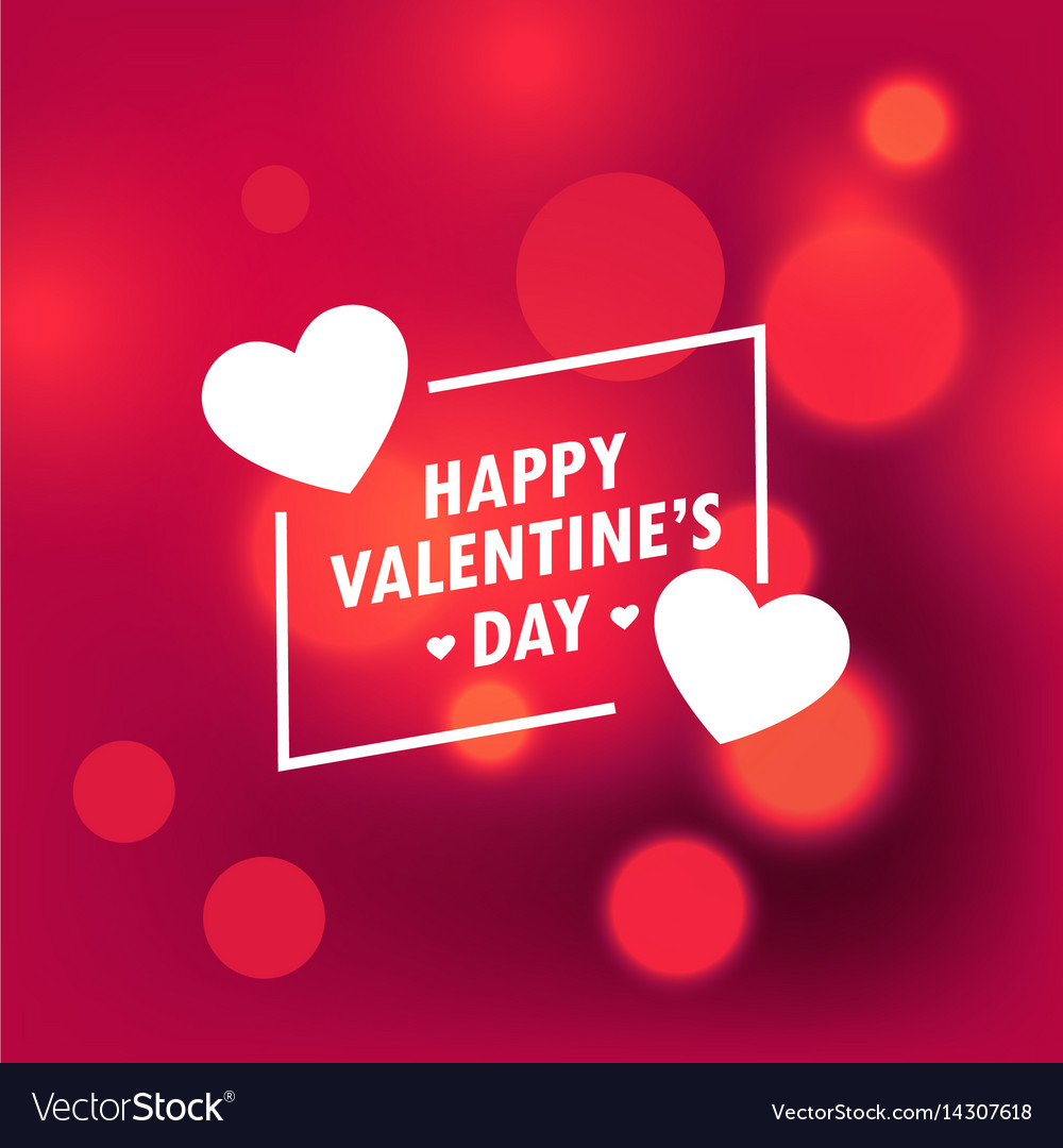 Beautiful happy valentines day background with vector image