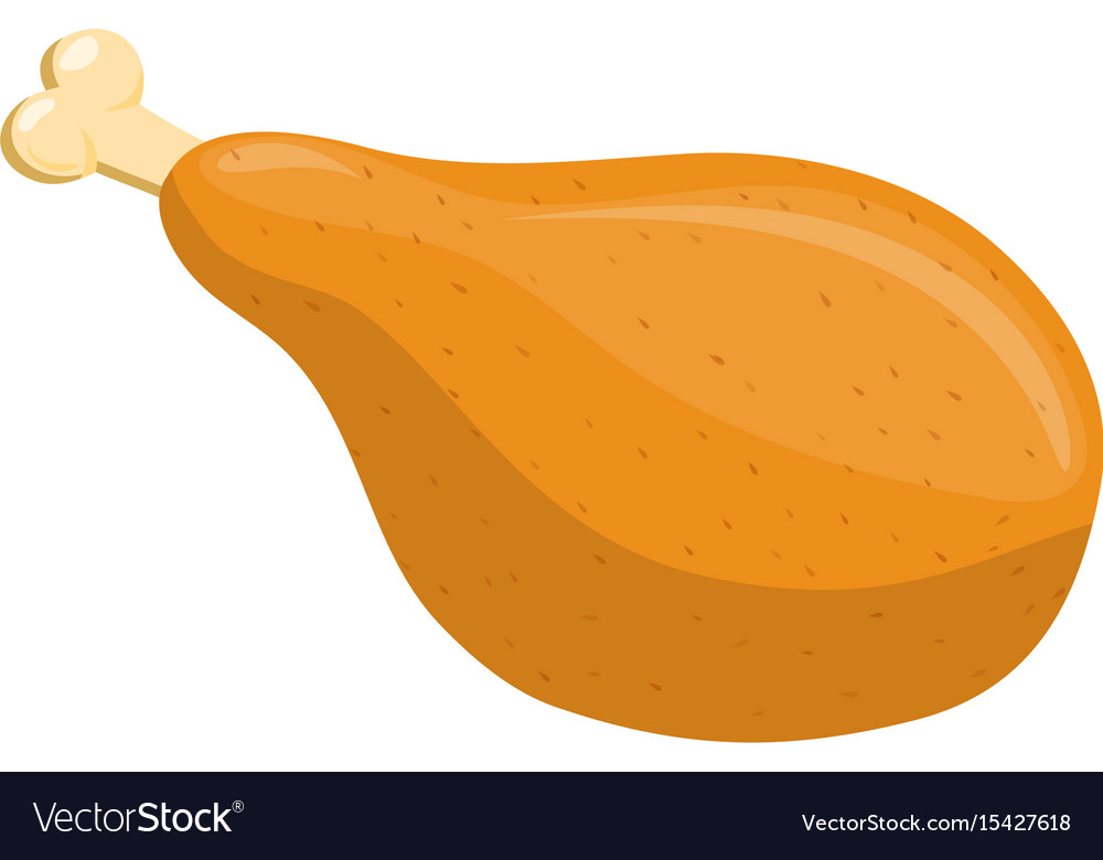 Chicken meat on the bone icon vector image