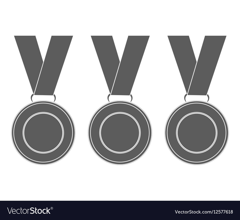 Medals for the winners of the Champions vector image