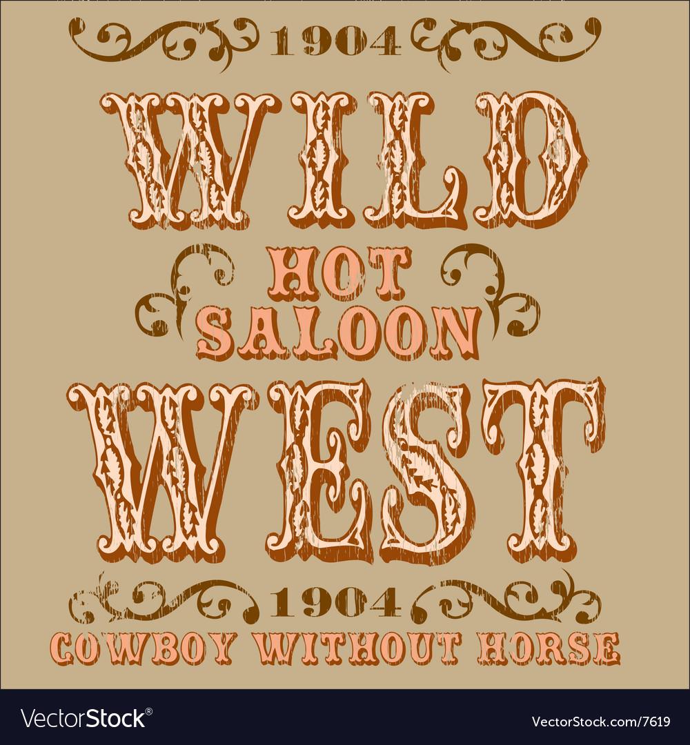 Wild west design vector image