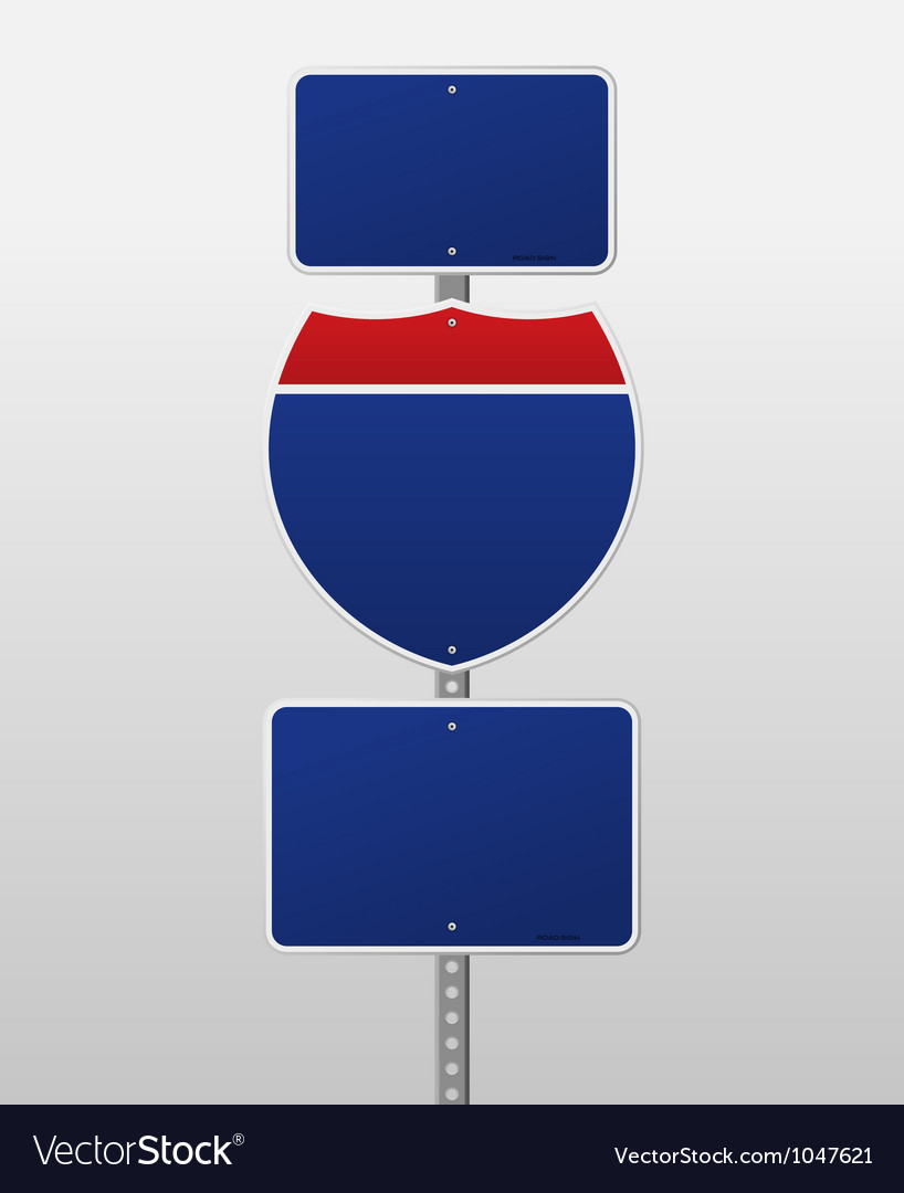 Blank Interstate Sign vector image