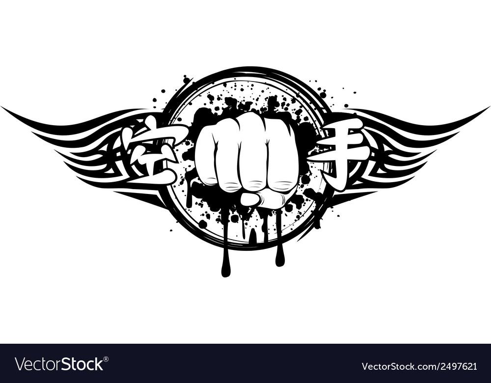 Fist karate vector image