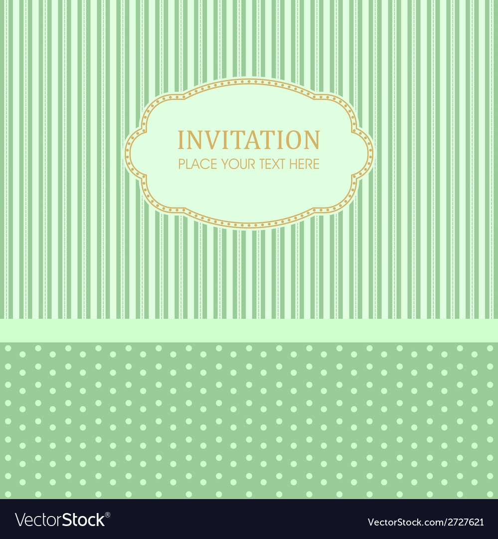 Invitation design template vector image