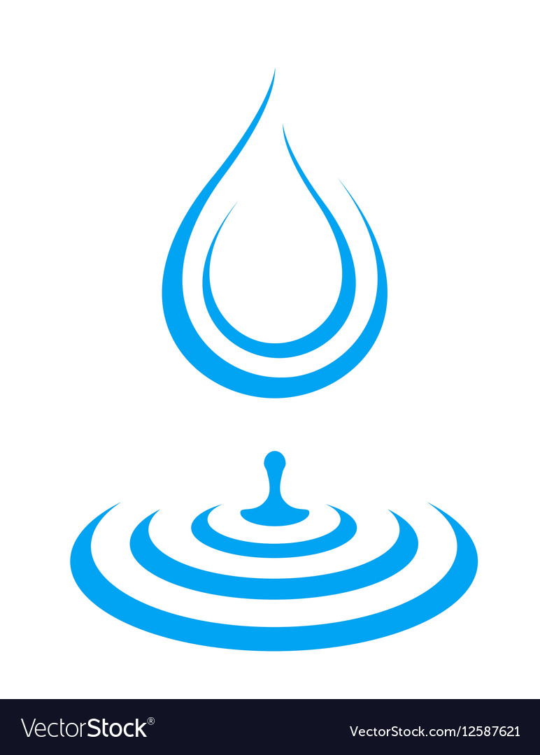 Water droplet icon splash vector image