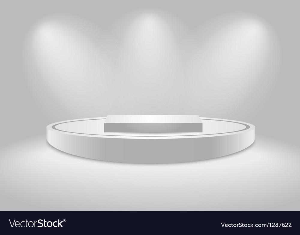 White podium vector image