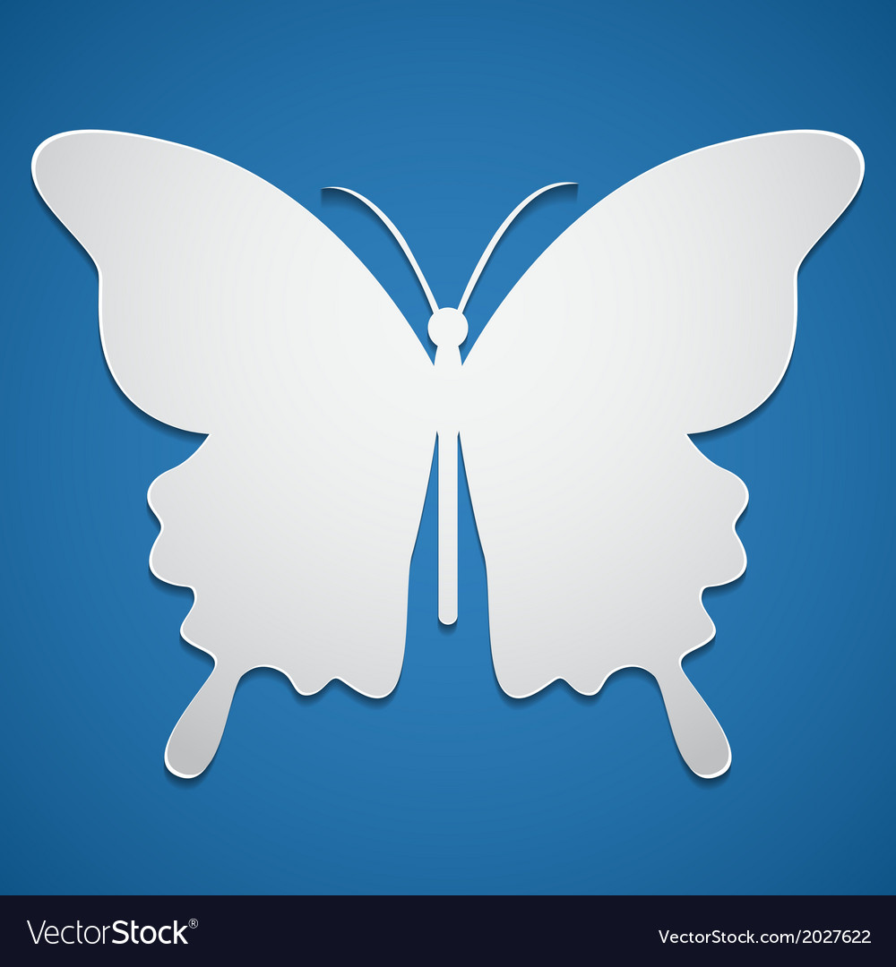 Butterfly icon or background vector image