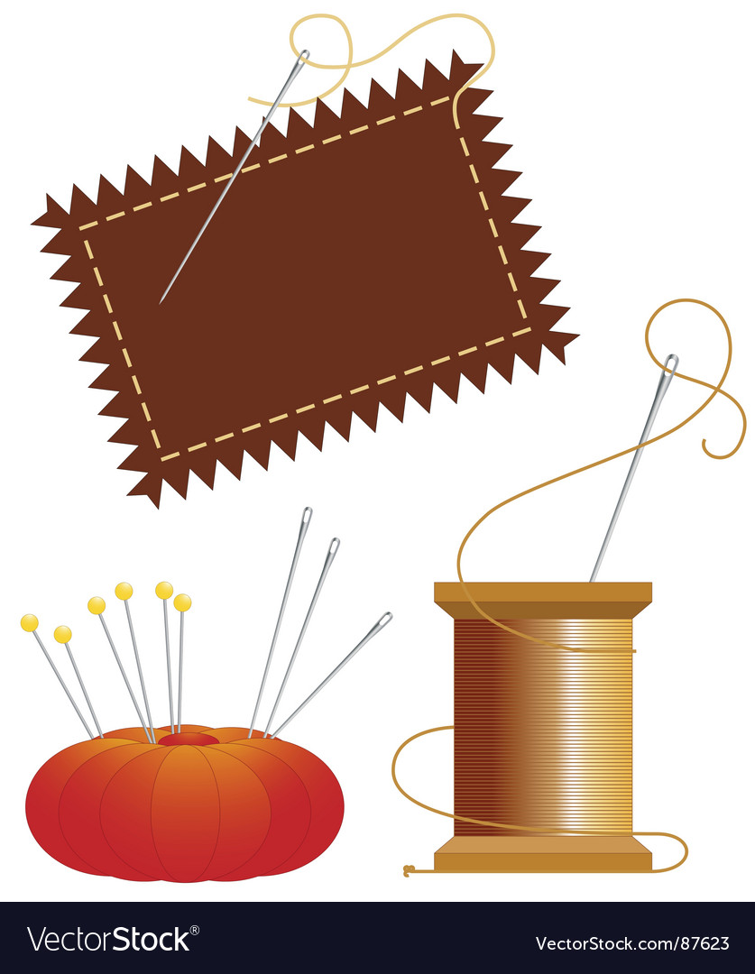 Sewing notions vector image
