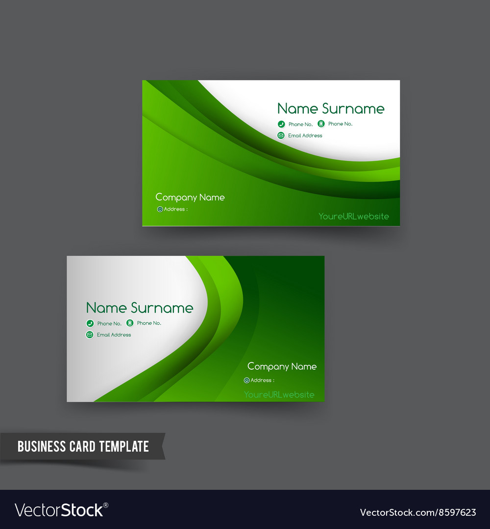 Business card template set 049 green curve element business card template set 049 green curve element vector image magicingreecefo Choice Image