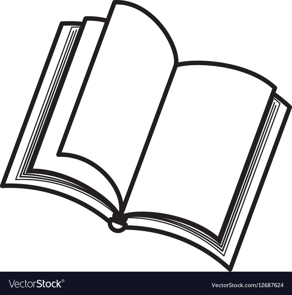 Isolated book open vector image