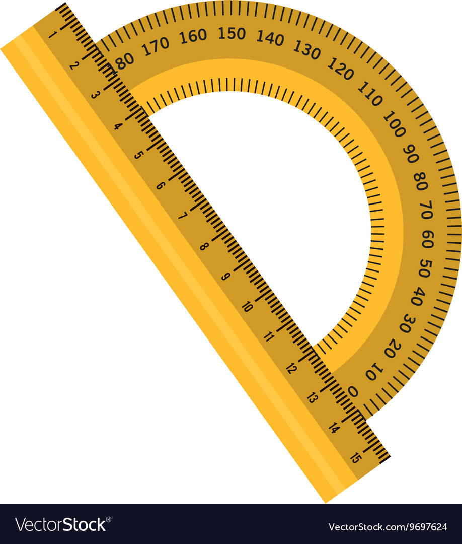 Measure ruler isolated flat icon vector image