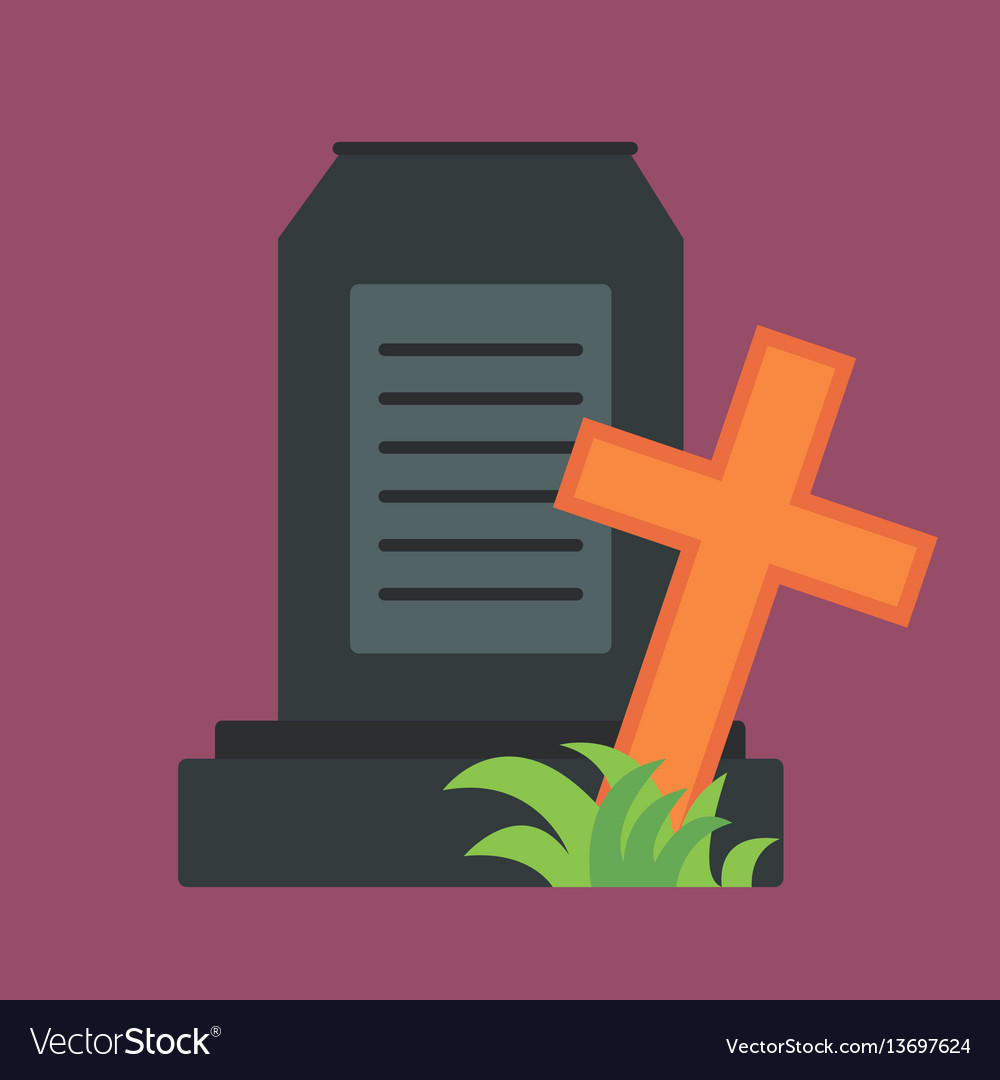 Tombstone crypt construction isolated traditional vector image