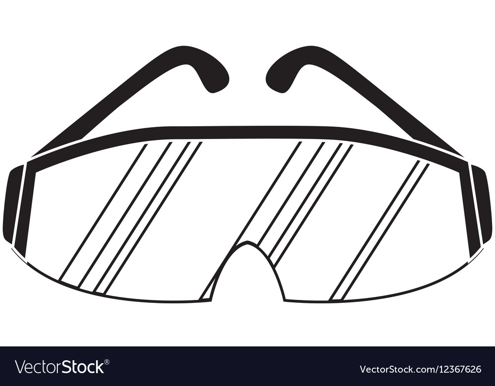 Safety industrial glasses vector image
