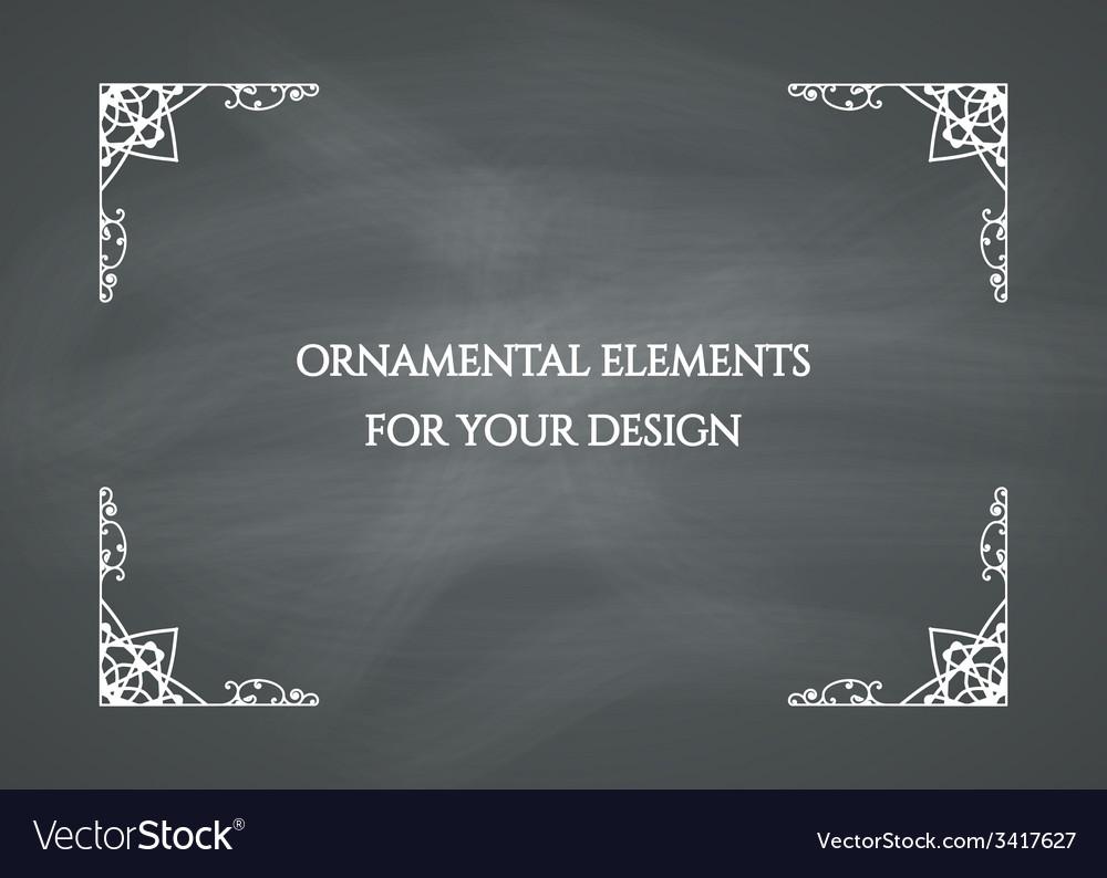 Chalkboard Frame vector image