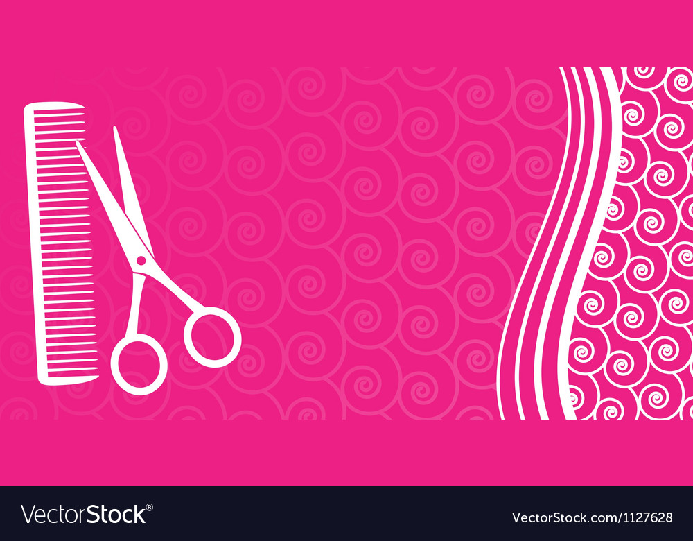 Business card for hair salon Royalty Free Vector Image