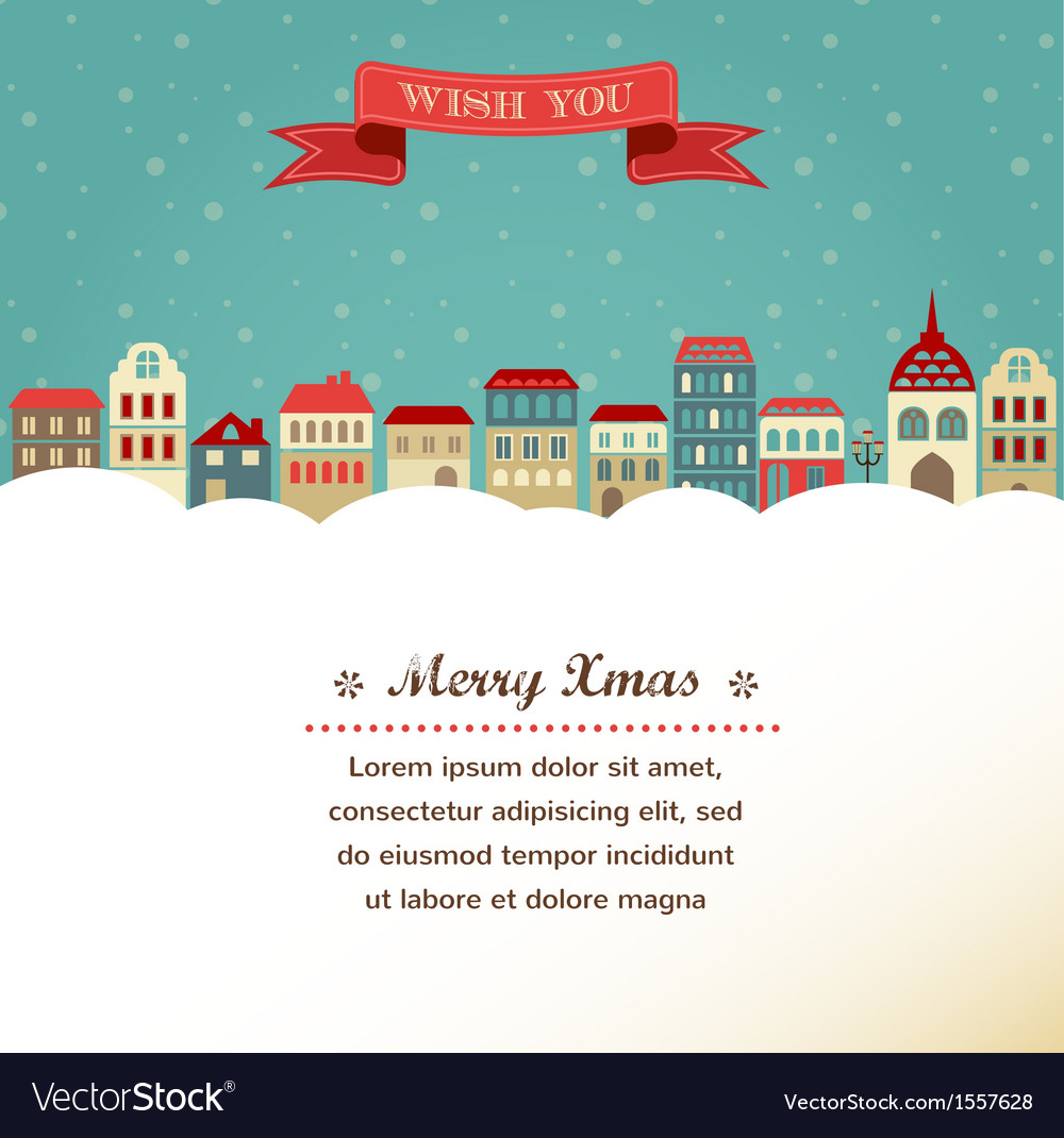 Vintage xmas greeting card and background with vector image kristyandbryce Images
