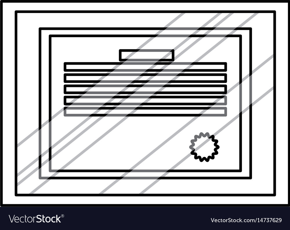 diploma professional degree document frame glass vector image - Document Frame