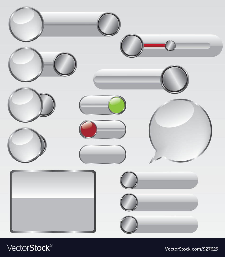 Web glass button vector image