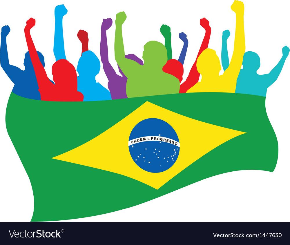 Brazil fans vector image
