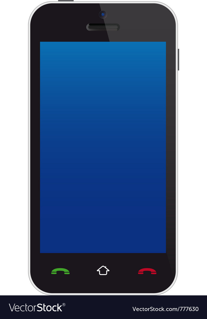 Touchscreen phone vector image