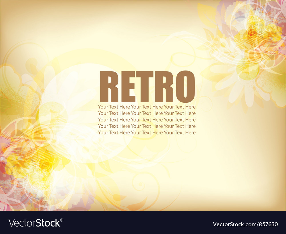 Vintage watercolor background vector image