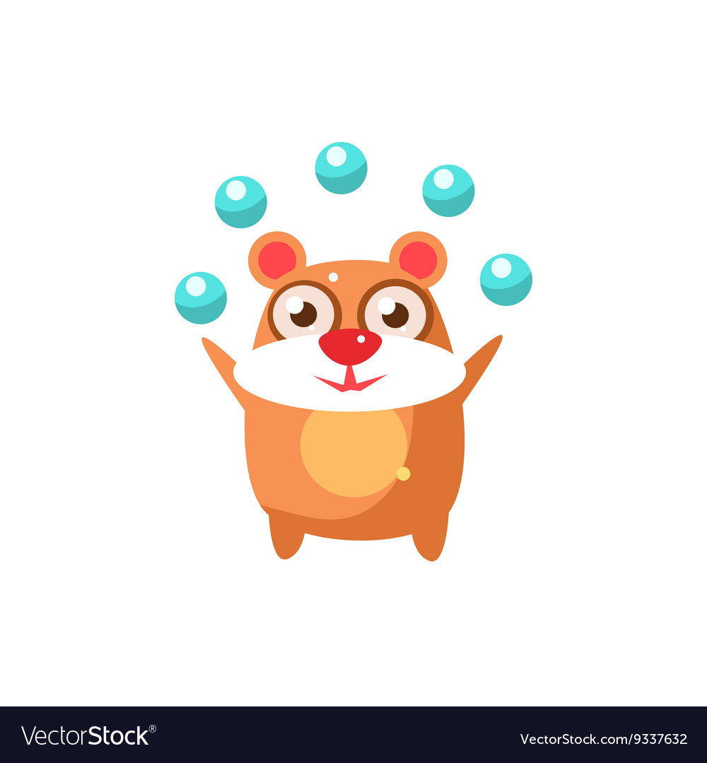 Bear Party Animal Icon vector image