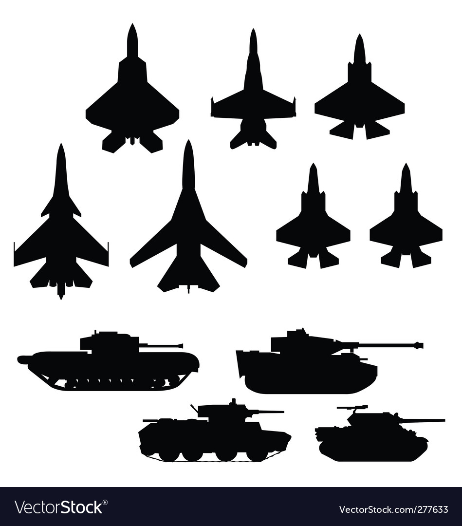 Weapons vector image