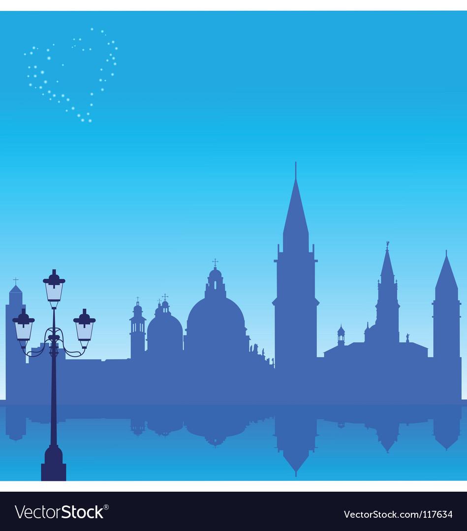 Venice silhouette vector image