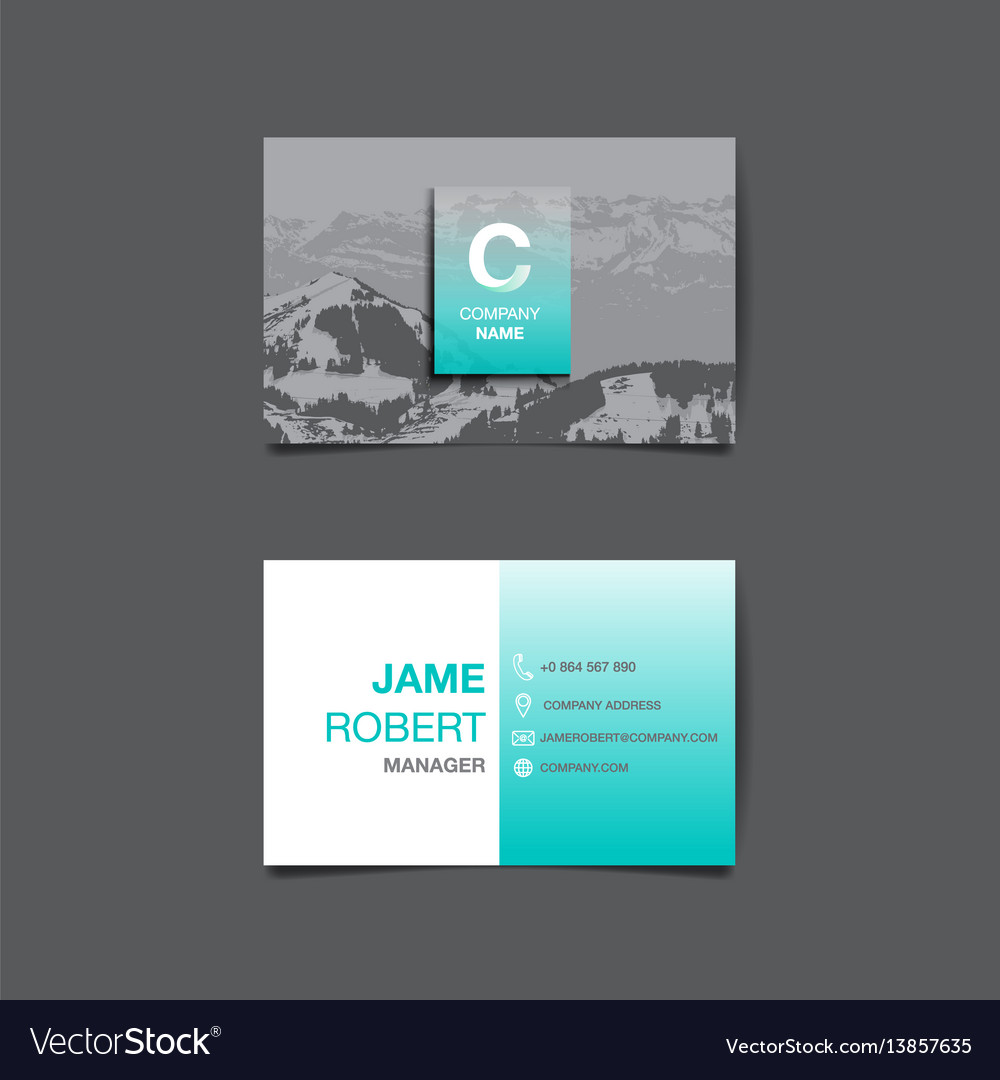 Business name card background Royalty Free Vector Image