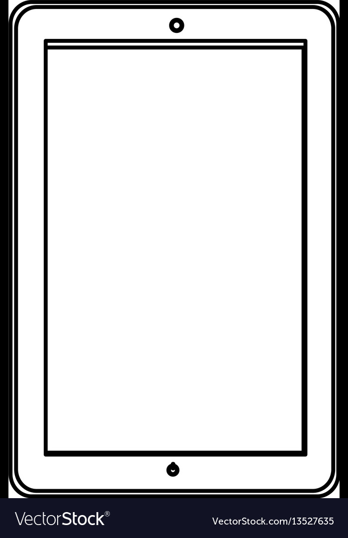 Silhouette smart phone icon vector image
